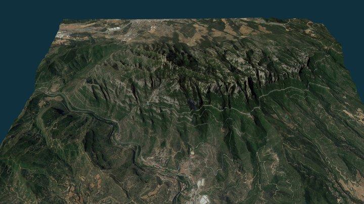 Montserrat Mountain, Catalonia (Spain) 3D Model