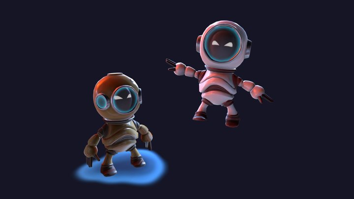 Spaceman and Diver 3D Model