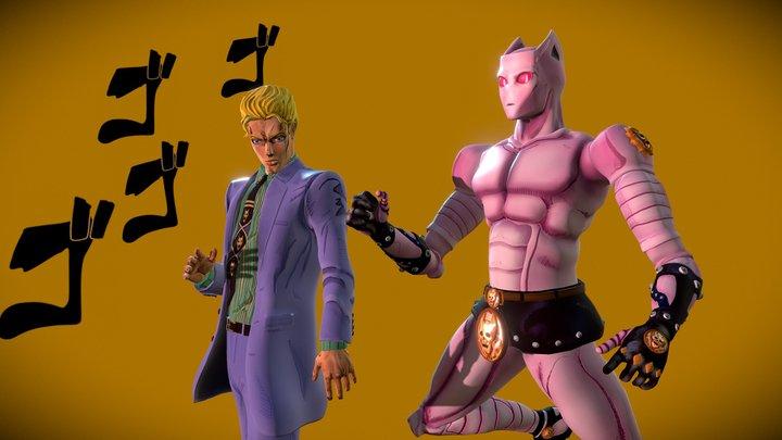 Yoshikage Kira & Killer Queen 3D Model