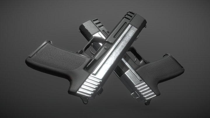 Dual Pistols from TR:AOD (Promo Renders) 3D Model