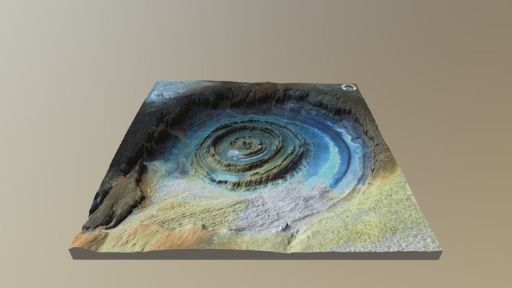 Richat Structure, Eye of the Sahara 3D Model