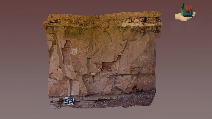 FS0406 Palatki Grotto Panels 2 & 3 3D Model