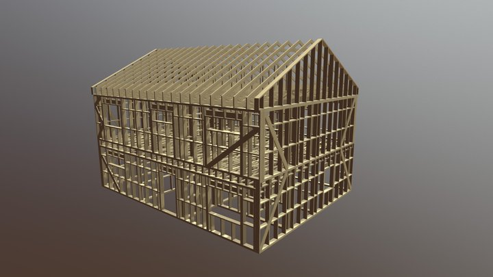 9x12 m Floor and Roof Trusses 2780 Eur 3D Model