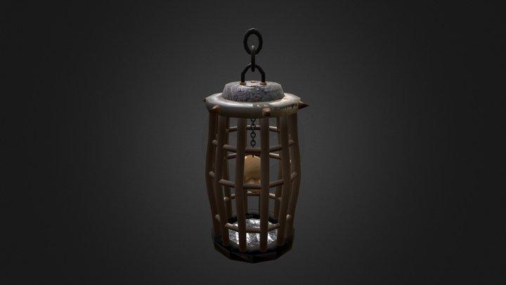 cage et crane 3D Model
