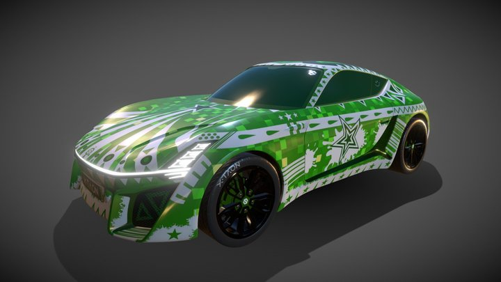 X-TAON Car Contest - The Green White 3D Model