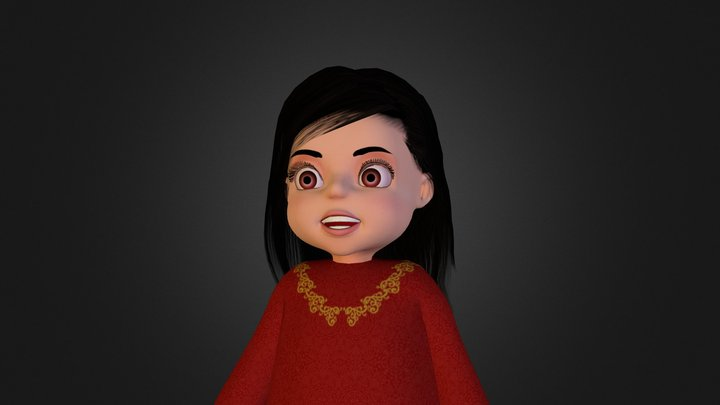 Alia Character 3d model 3D Model