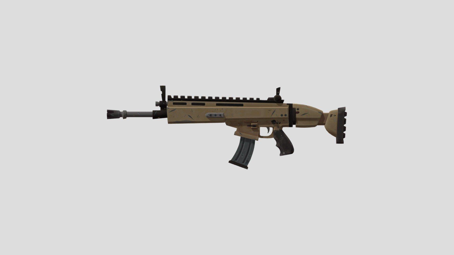 A Scar In Fortnite Scar Fortnite Gun Download Free 3d Model By Skyrush Skyrush F661b1f