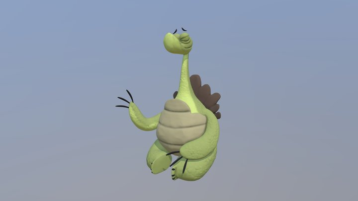 Turtle - Oogway from Kung Fu Panda (Stylized) 3D Model