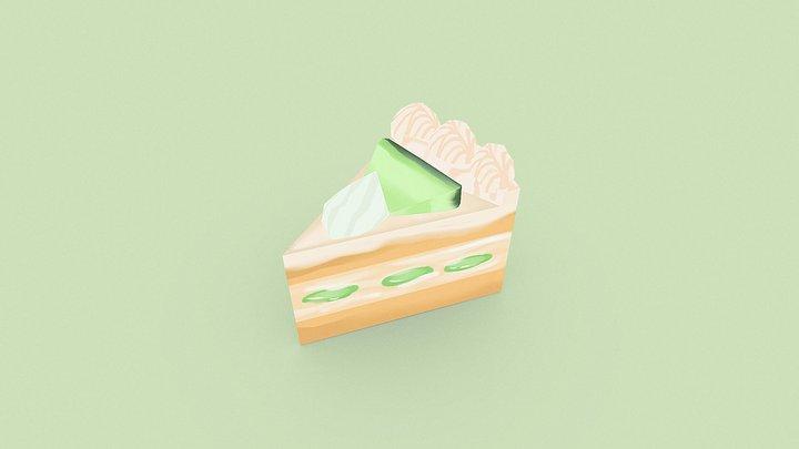 Melon Shortcake 3D Model