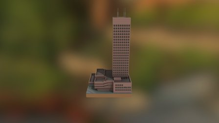 Shelltoren in Minecraft - Rotterdam 3D Model