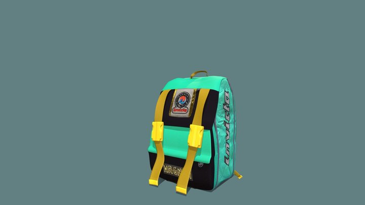 INVICTA 90's Vintage Backpack 3D Model