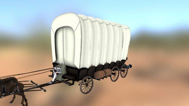 ミコトネたちの馬車 / Mages Carrriage 3D Model