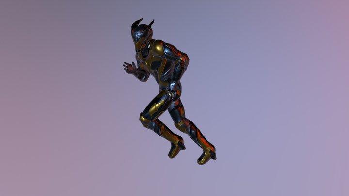 Cyber Mutant Xell 3D Model