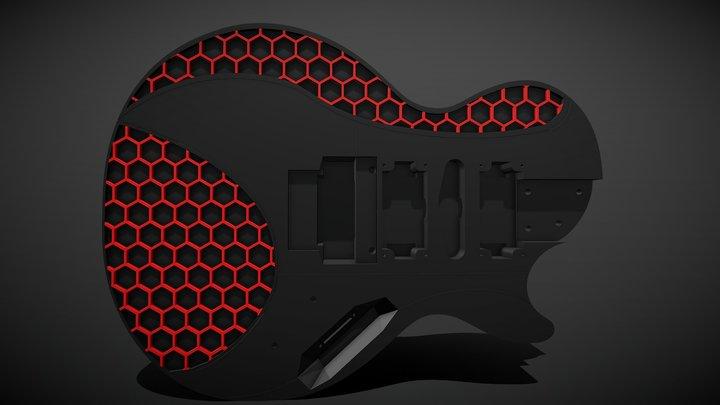 Guitar Modular Printable 3D Model