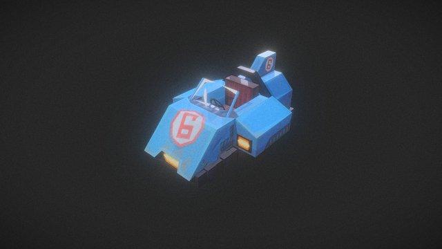 Kart blue - Hypixel Turbo Kart Racers Game 3D Model