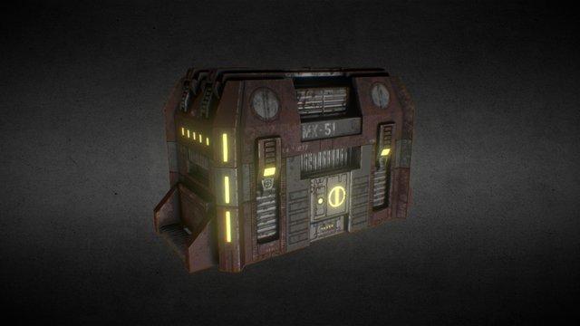 Scifi Container 3D Model