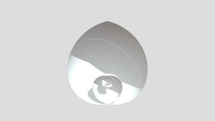 Phi Spiral Fractal Egg 3D Model