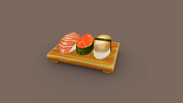 Sushi Bar 3D Model