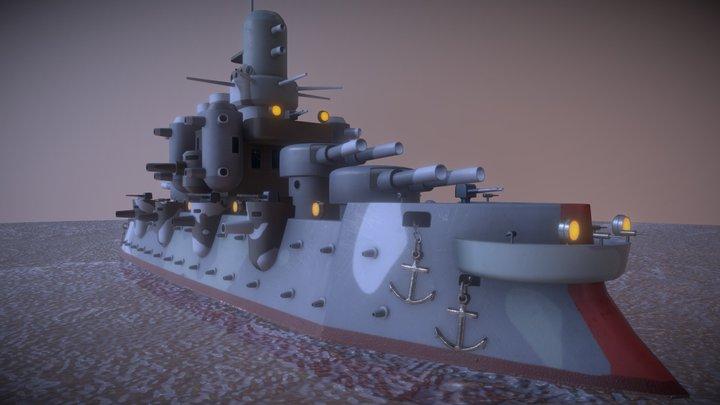 Steam Warship 3D Model