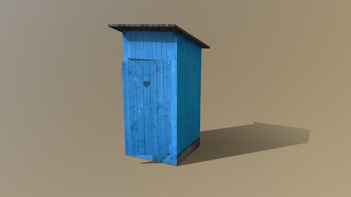 Blue WC 3D Model