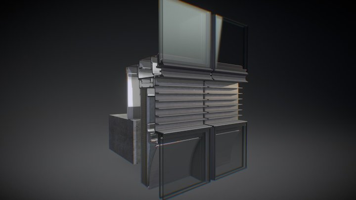 Curtain Wall Stack Joint V7 3D Model
