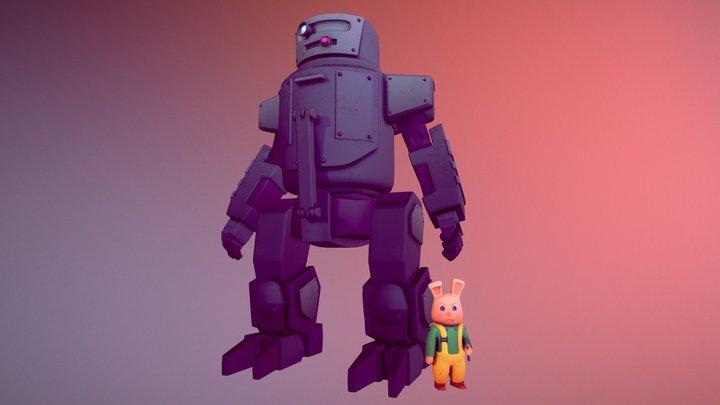 Mecha-Rabbit 3D Model