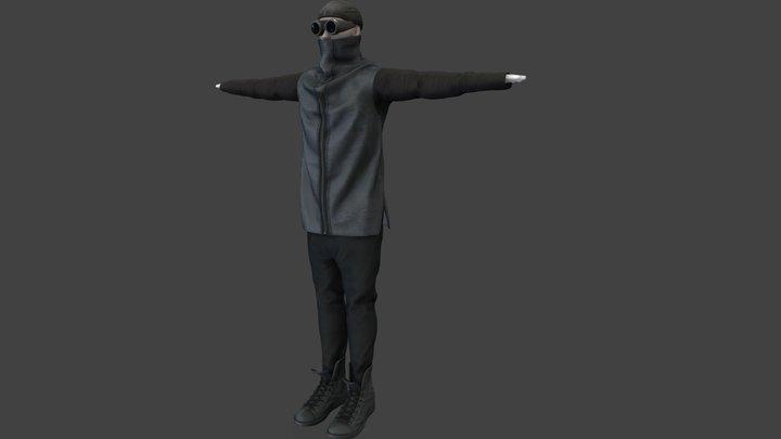 Futuristic Urban Male Character 3D Model