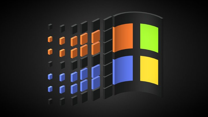 Windows 98 Logo 3D Model
