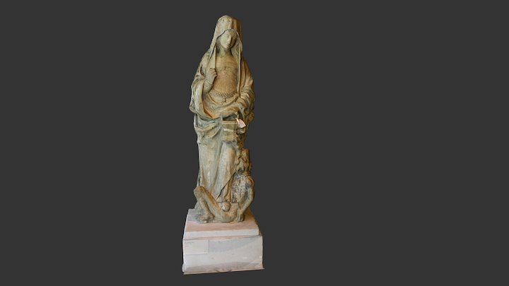 Saint Margaret of Antioch and the Dragon 3D Model