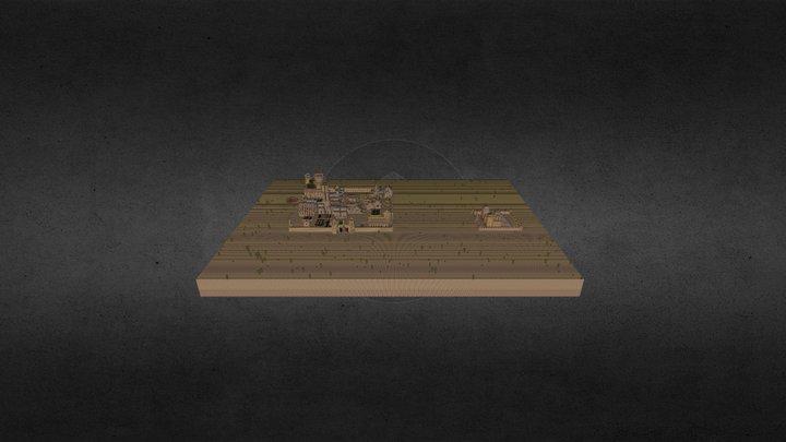 Ville du désert 3D Model