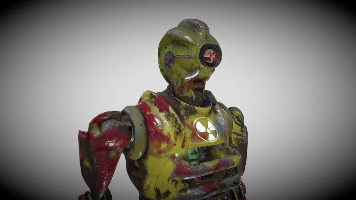 Postapo Humanoid Robot 3D Model