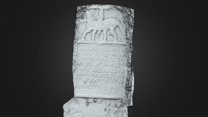Drummans - Headstone - LE003-008005 - Rider 3D Model