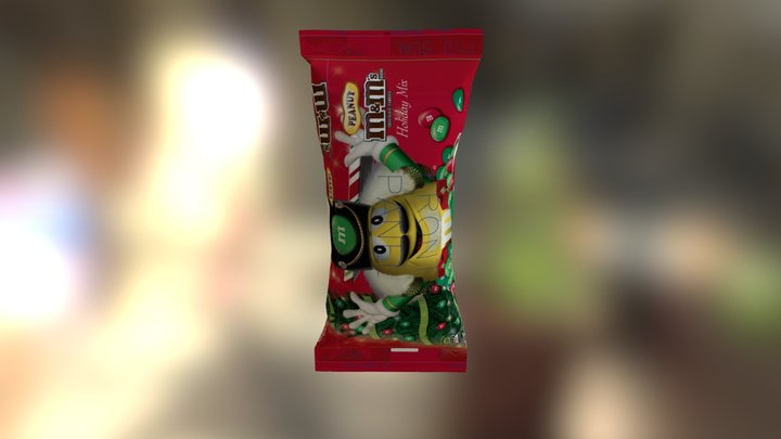 M&m 12 6oz Bag 3D Model