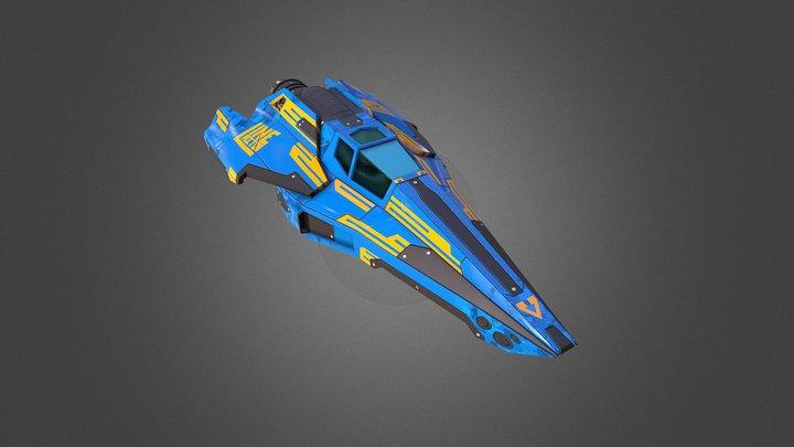 Viper Racing Ship 3D Model