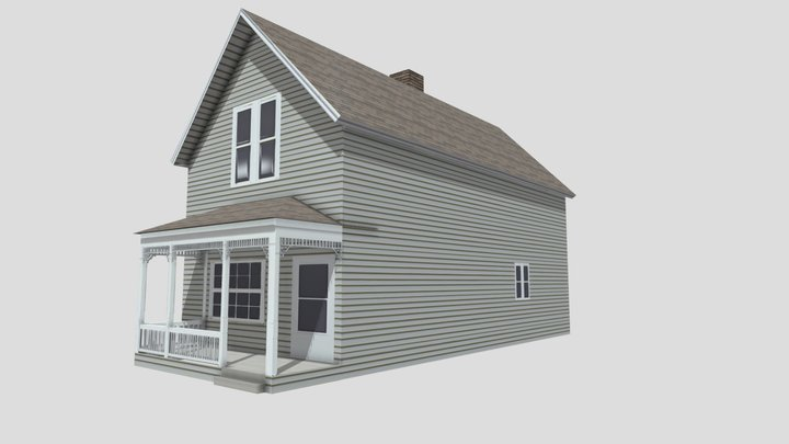 Small Midwestern House 1 3D Model