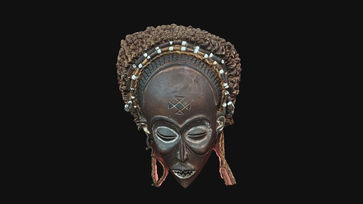 East African ceremonial mask, quick & dirty scan 3D Model