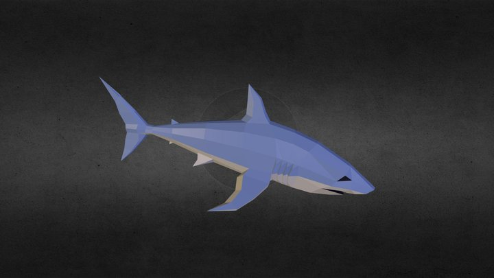 Low-Poly Shark 3D Model