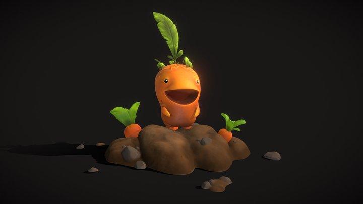 Wildstar Carrot veggie creature 3D Model