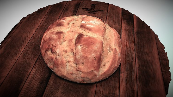 French bread 3D Model