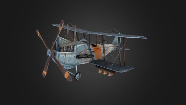 Harry Tate Stylized Airplane 3D Model