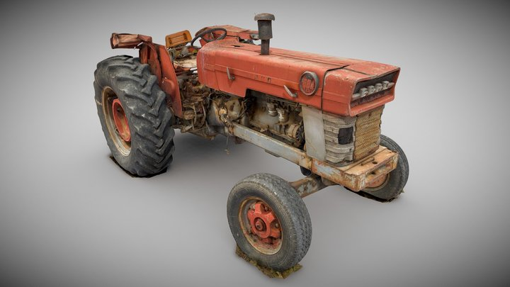 Tractor EBRO 684 Agricultural Machinery Machine 3D Model