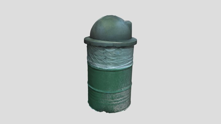 Trail Trash Can 3D Model