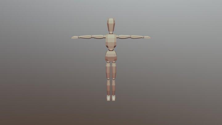 Walking Character 3D Model