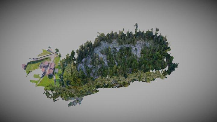 Affleurement Prapont _ Recherche géologique 3D Model