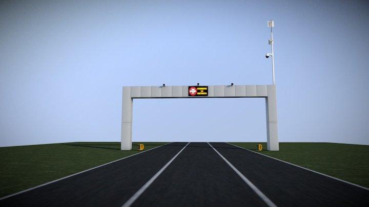 Arco de Seguridad Kiotech 3D Model