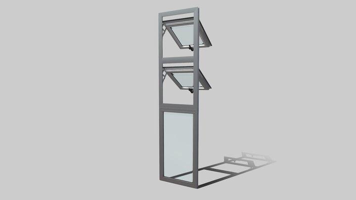 Ventana Proyectante K40 - Animada 3D Model