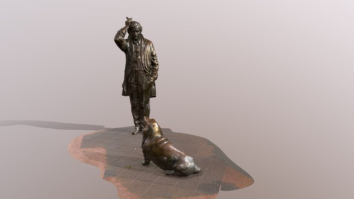 Columbo statue in Budapest 3D Model