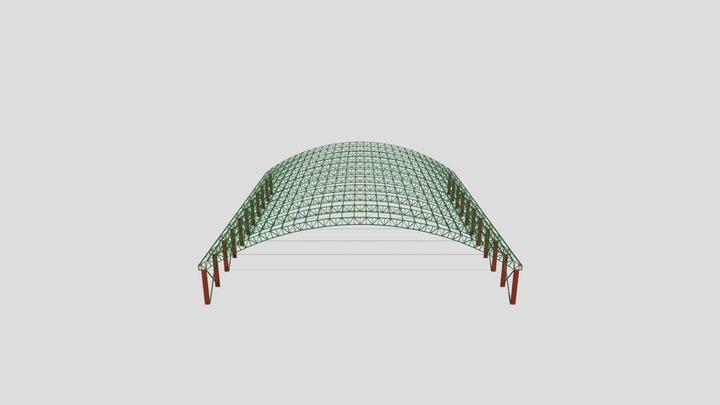 PISTA DE LAÇO - 40 metros de vão livre 3D Model