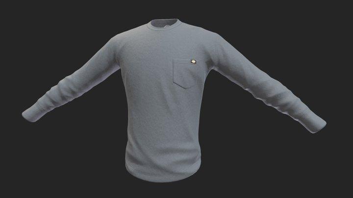 Dickies Long Sleeve Shirt 3D Model