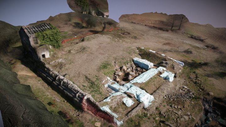 Archaeological excavations, Temple of Diana 3D Model